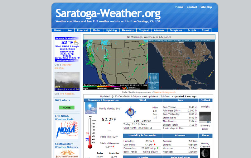 Best Templates For Your Weather Website | 34 Weather Bits